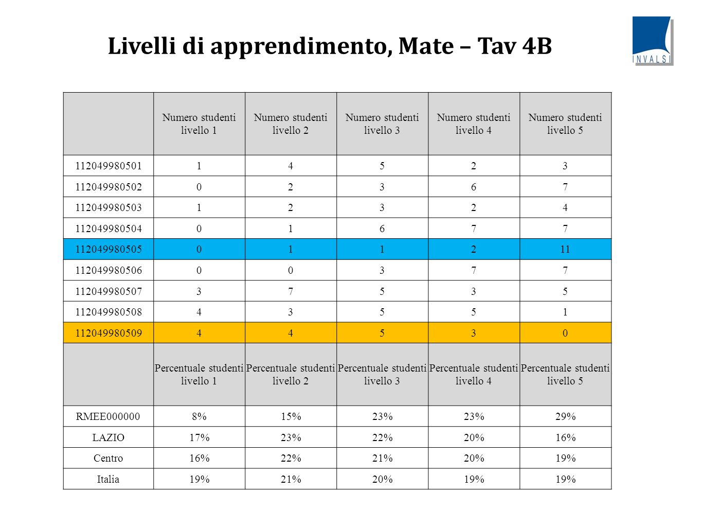 Livelli di apprendimento, Mate – Tav 4B