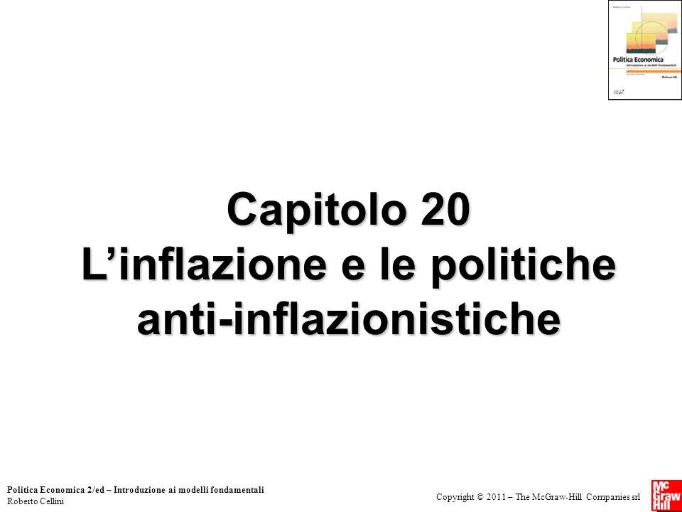 Capitolo 20 L'inflazione e le politiche anti-inflazionistiche