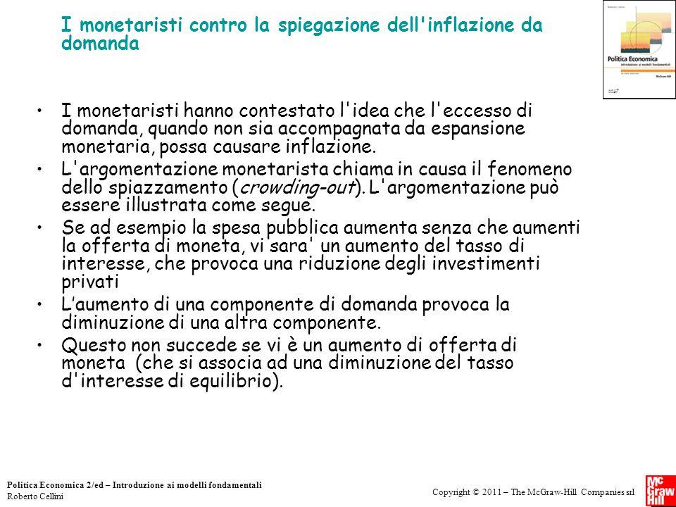 I monetaristi contro la spiegazione dell inflazione da domanda