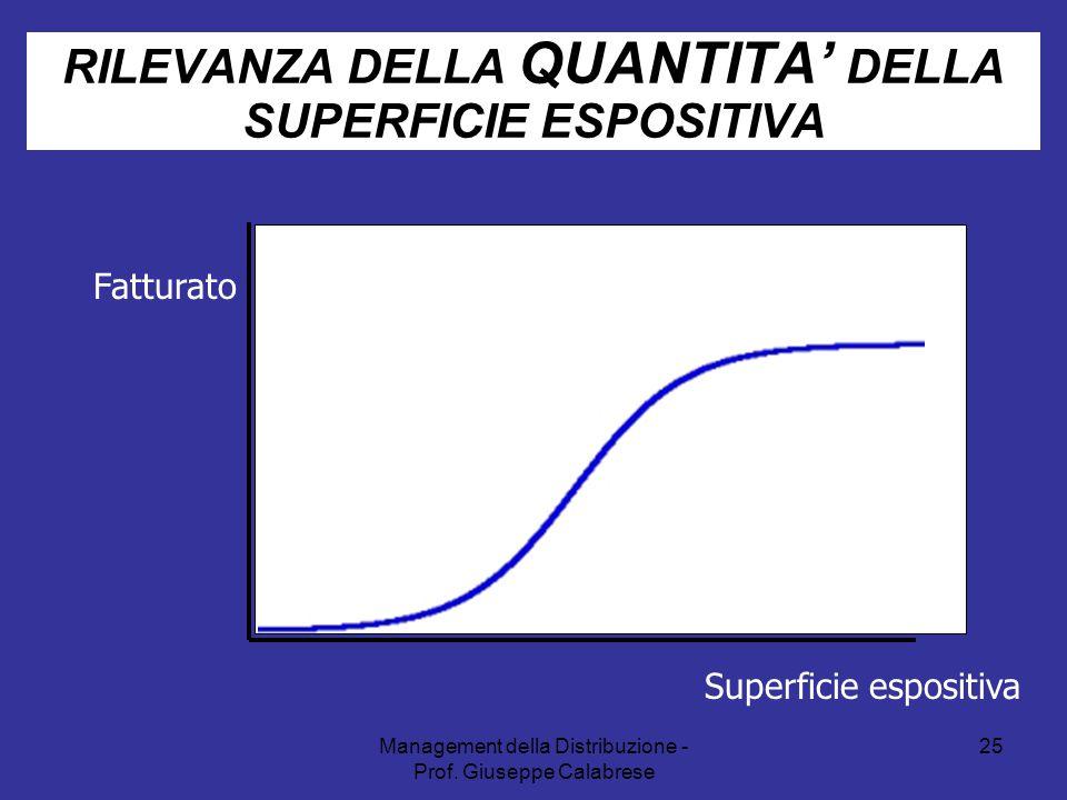 RILEVANZA DELLA QUANTITA' DELLA SUPERFICIE ESPOSITIVA