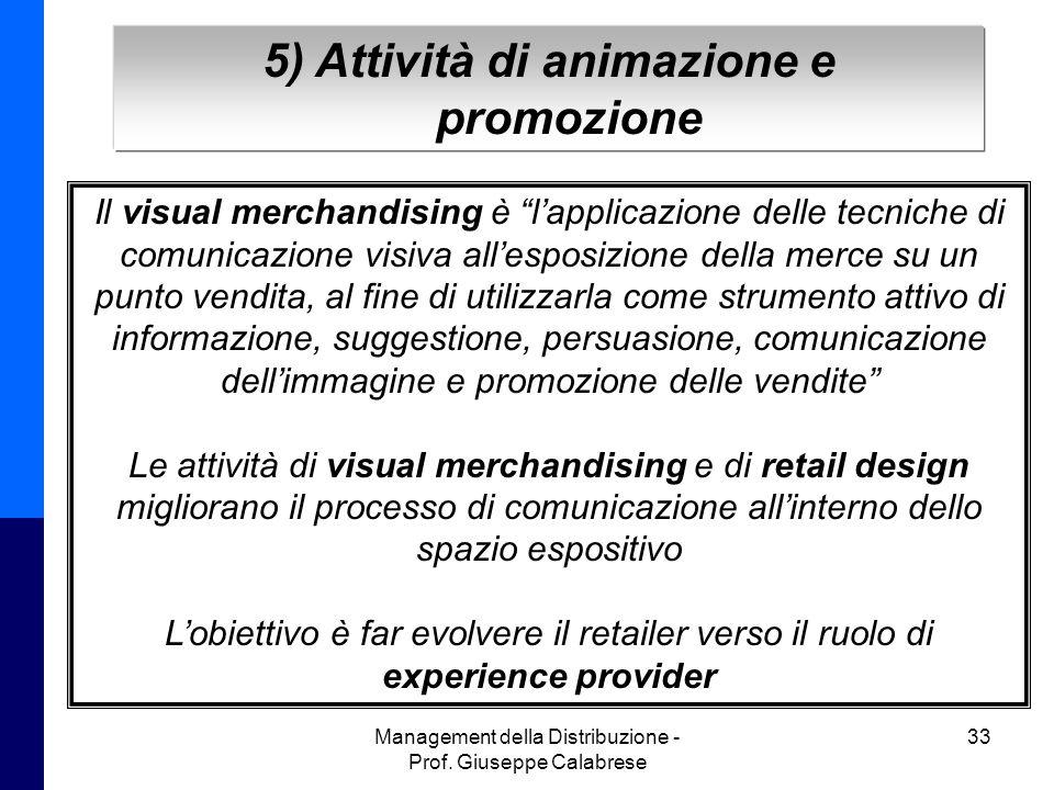 5) Attività di animazione e promozione