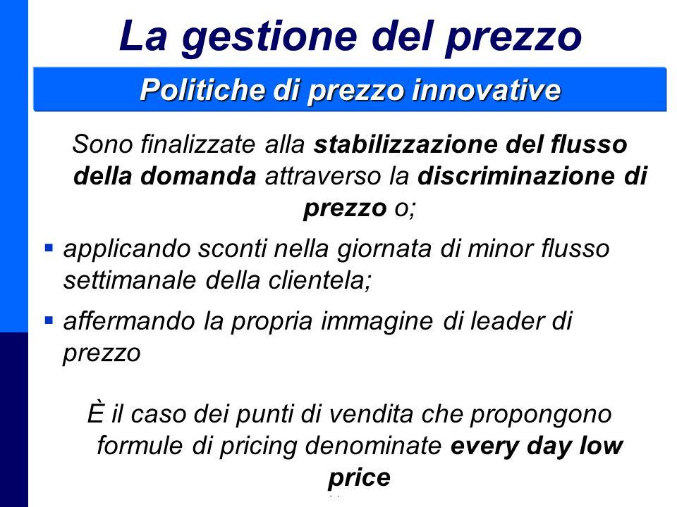 Politiche di prezzo innovative