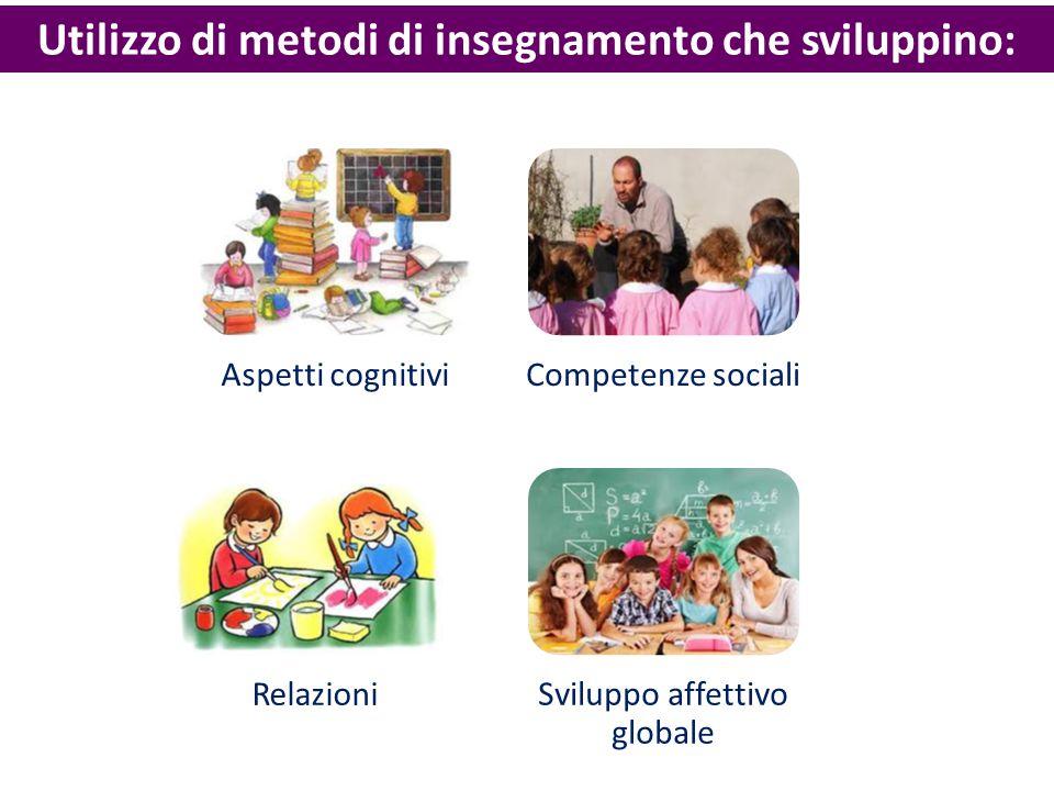 Utilizzo di metodi di insegnamento che sviluppino: