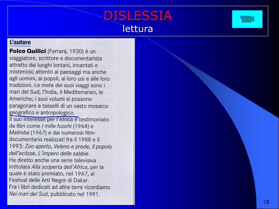 DISLESSIA lettura 19 19 19