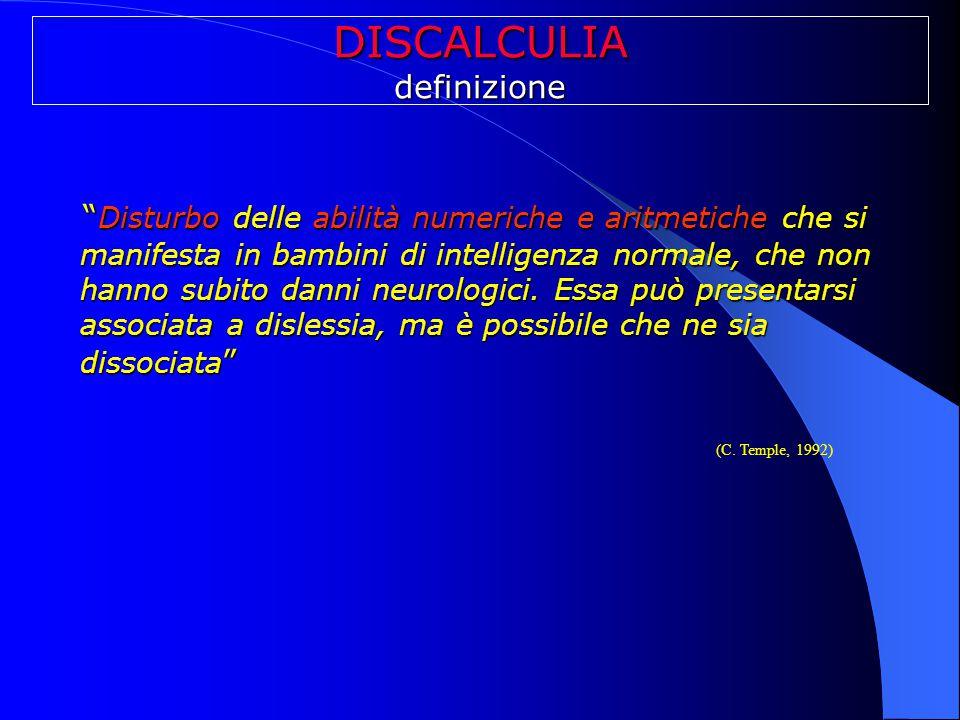 DISCALCULIA definizione.