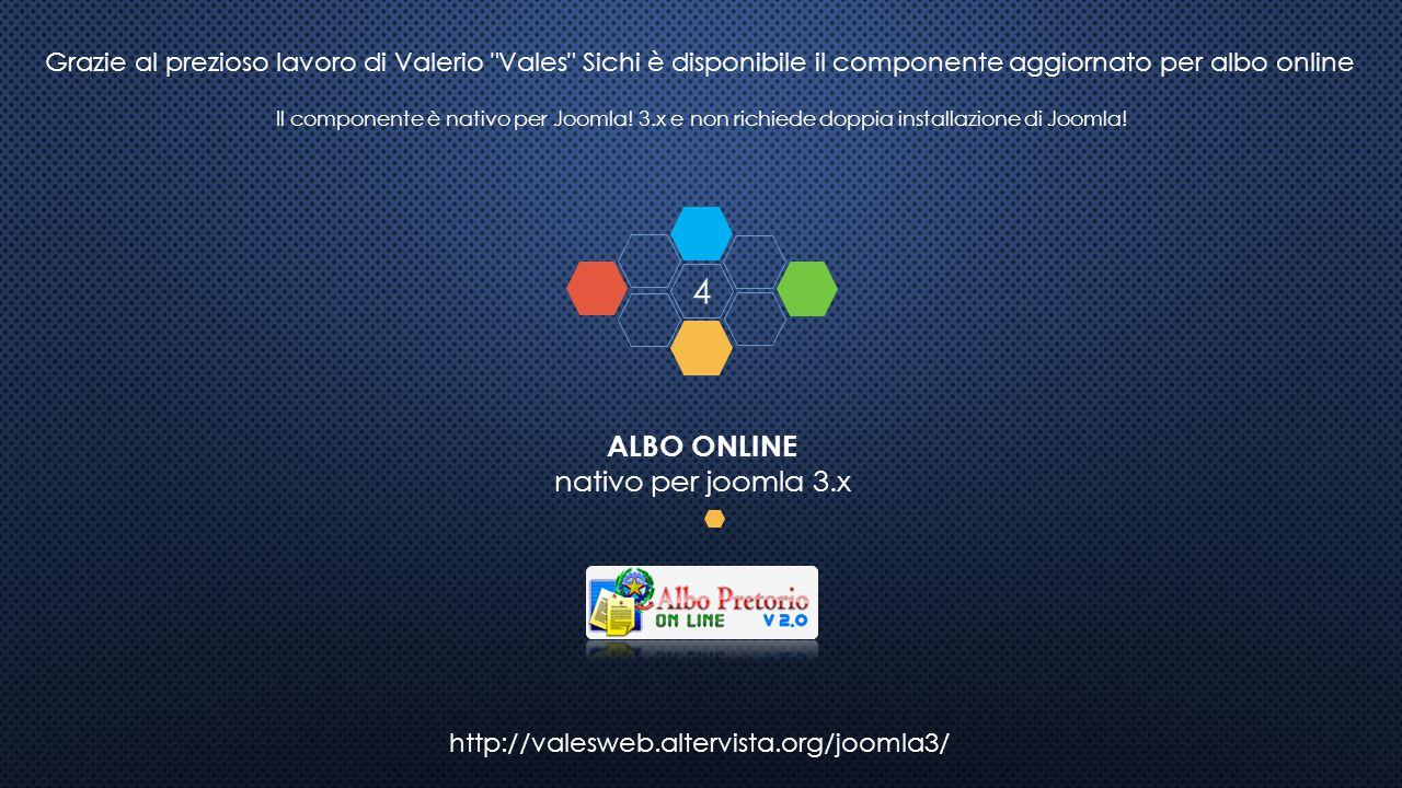 4 ALBO ONLINE nativo per joomla 3.x