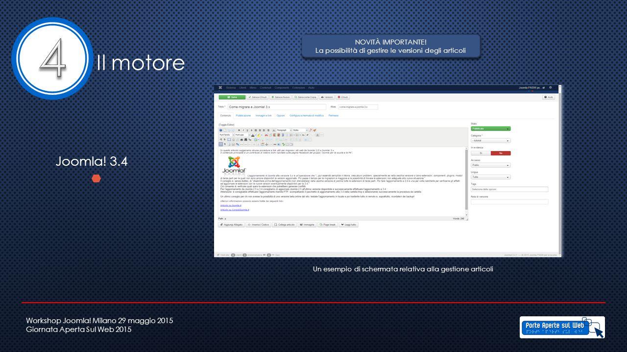 Un esempio di schermata relativa alla gestione articoli