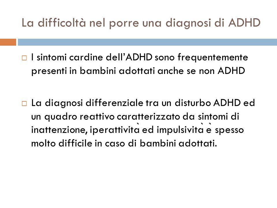 La difficoltà nel porre una diagnosi di ADHD