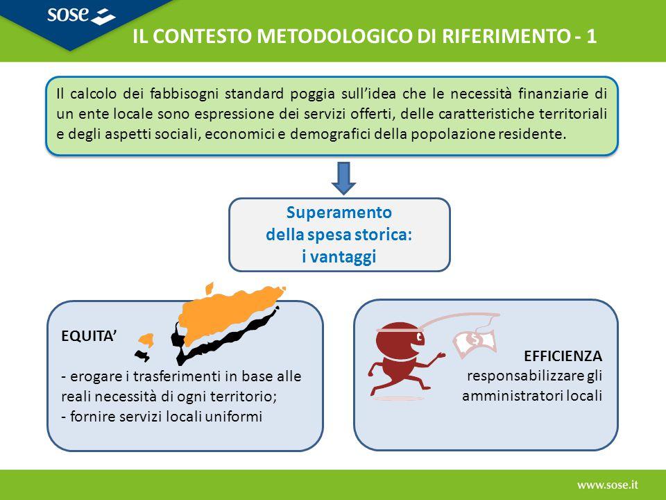 IL CONTESTO METODOLOGICO DI RIFERIMENTO - 1