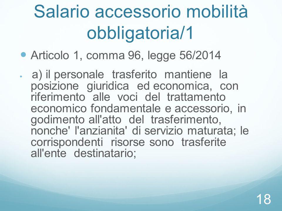 Salario accessorio mobilità obbligatoria/1