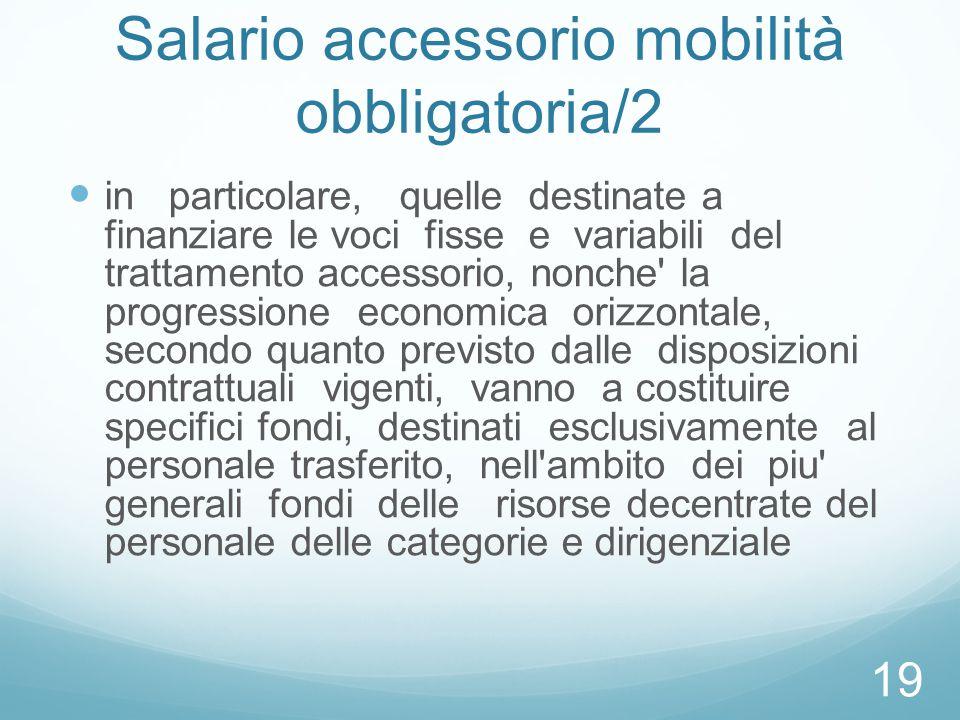 Salario accessorio mobilità obbligatoria/2
