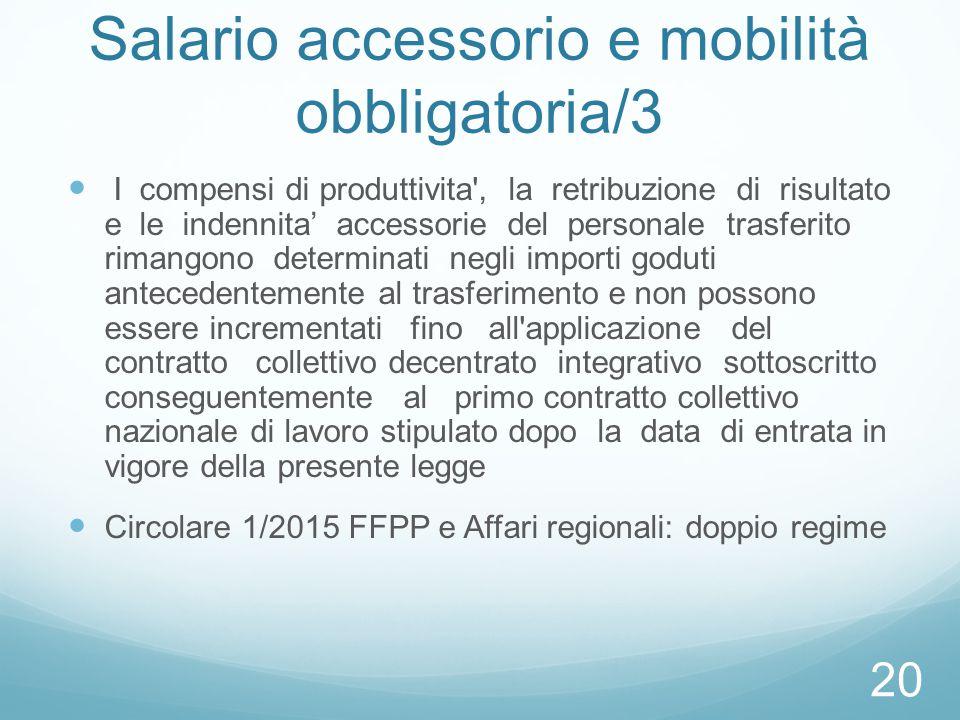 Salario accessorio e mobilità obbligatoria/3