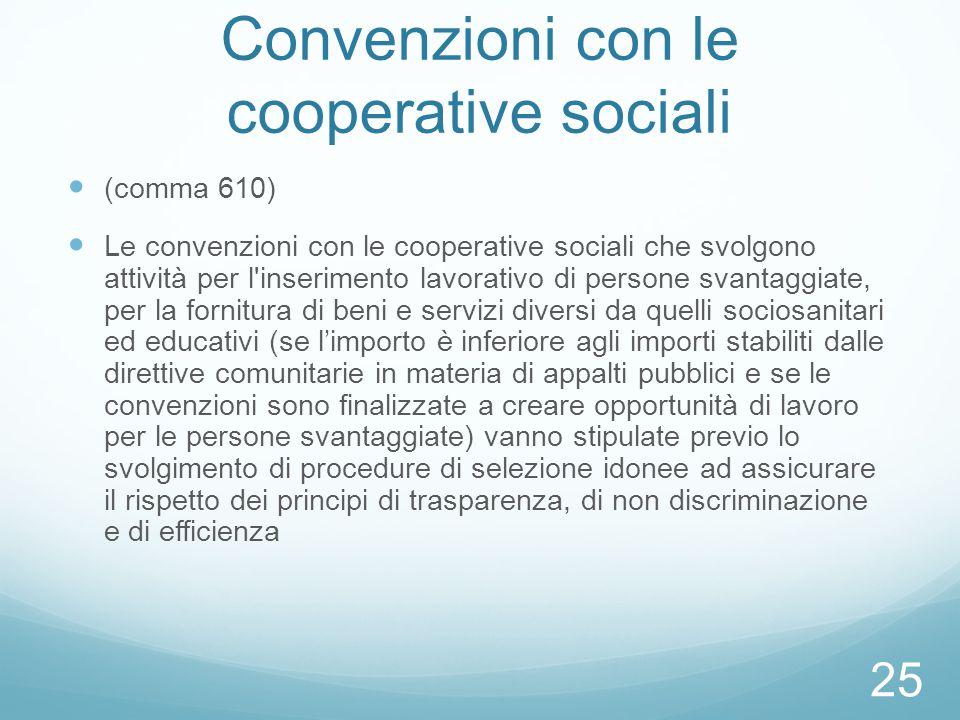 Convenzioni con le cooperative sociali