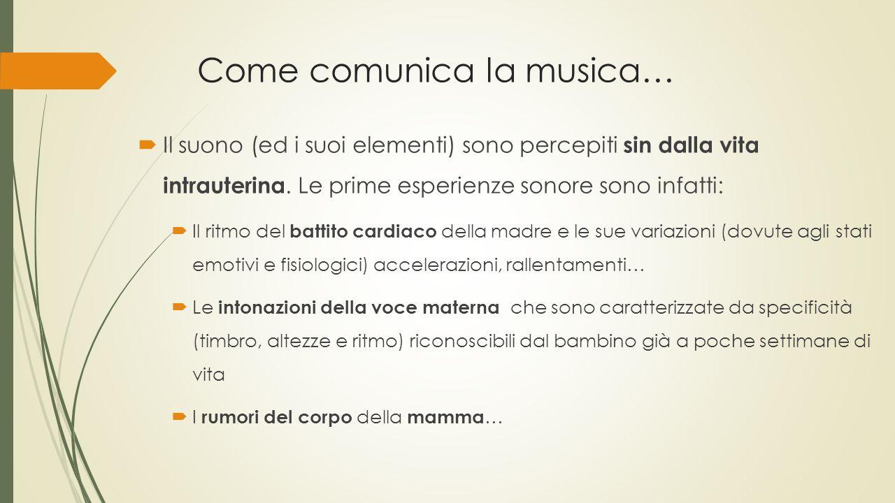 Come comunica la musica…