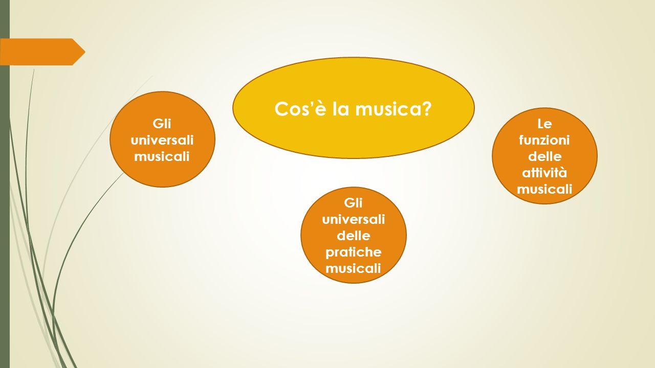 Cos'è la musica Gli universali musicali