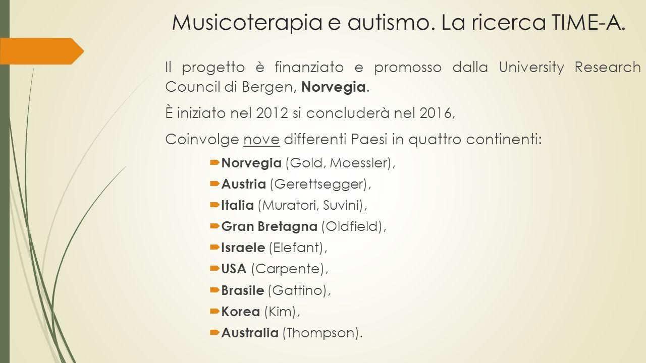 Musicoterapia e autismo. La ricerca TIME-A.
