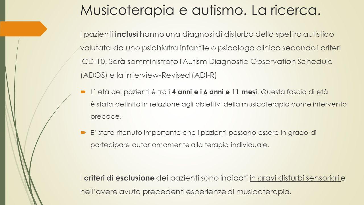 Musicoterapia e autismo. La ricerca.
