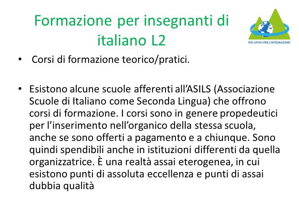 Formazione per insegnanti di italiano L2