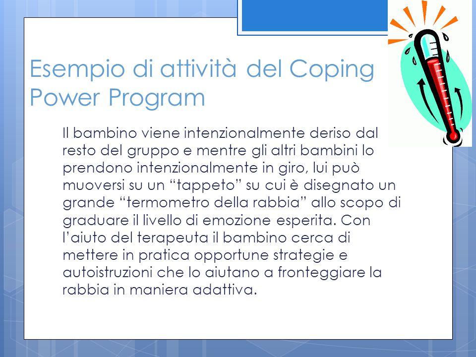 Esempio di attività del Coping Power Program