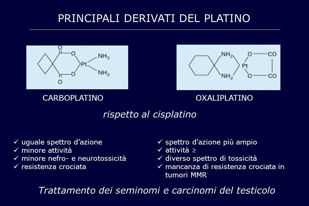 PRINCIPALI DERIVATI DEL PLATINO