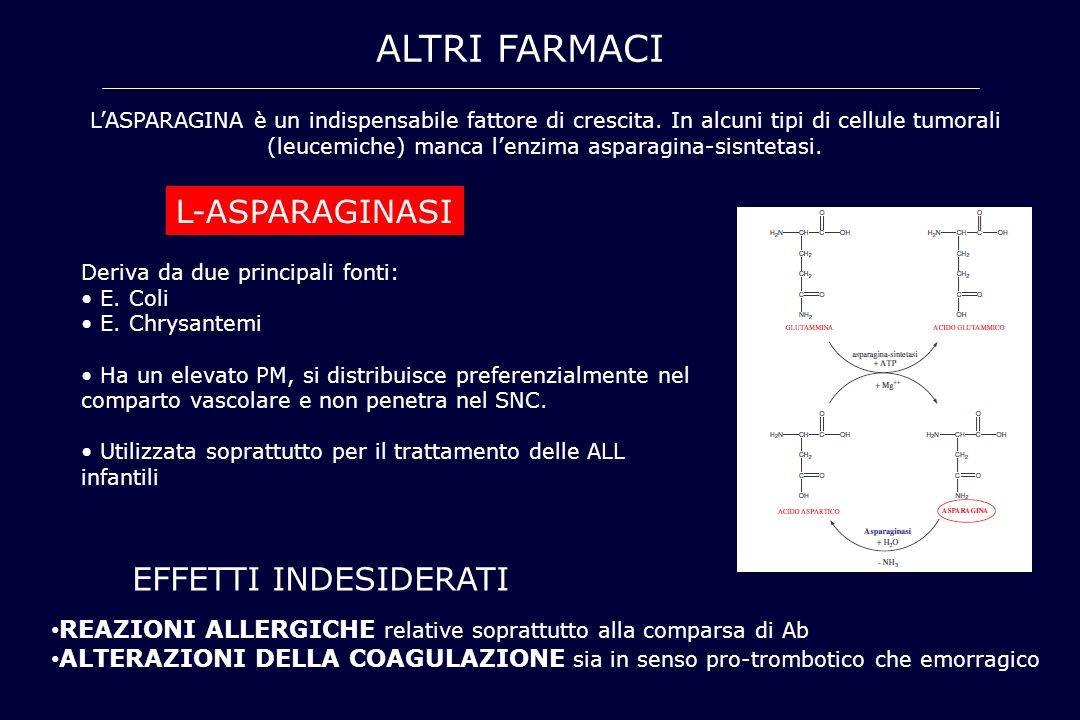 ALTRI FARMACI L-ASPARAGINASI EFFETTI INDESIDERATI