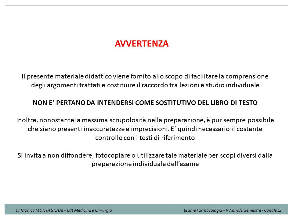 NON E' PERTANO DA INTENDERSI COME SOSTITUTIVO DEL LIBRO DI TESTO