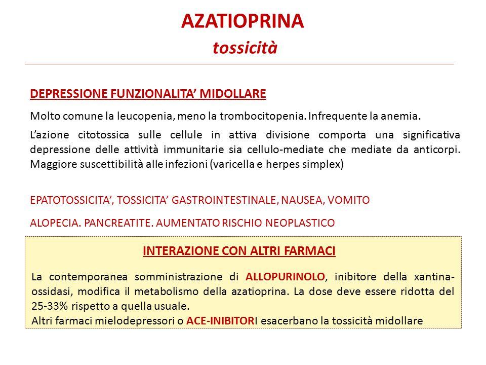 AZATIOPRINA tossicità
