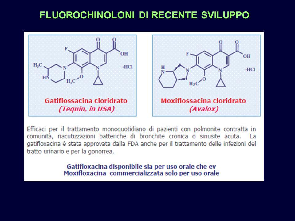 FLUOROCHINOLONI DI RECENTE SVILUPPO