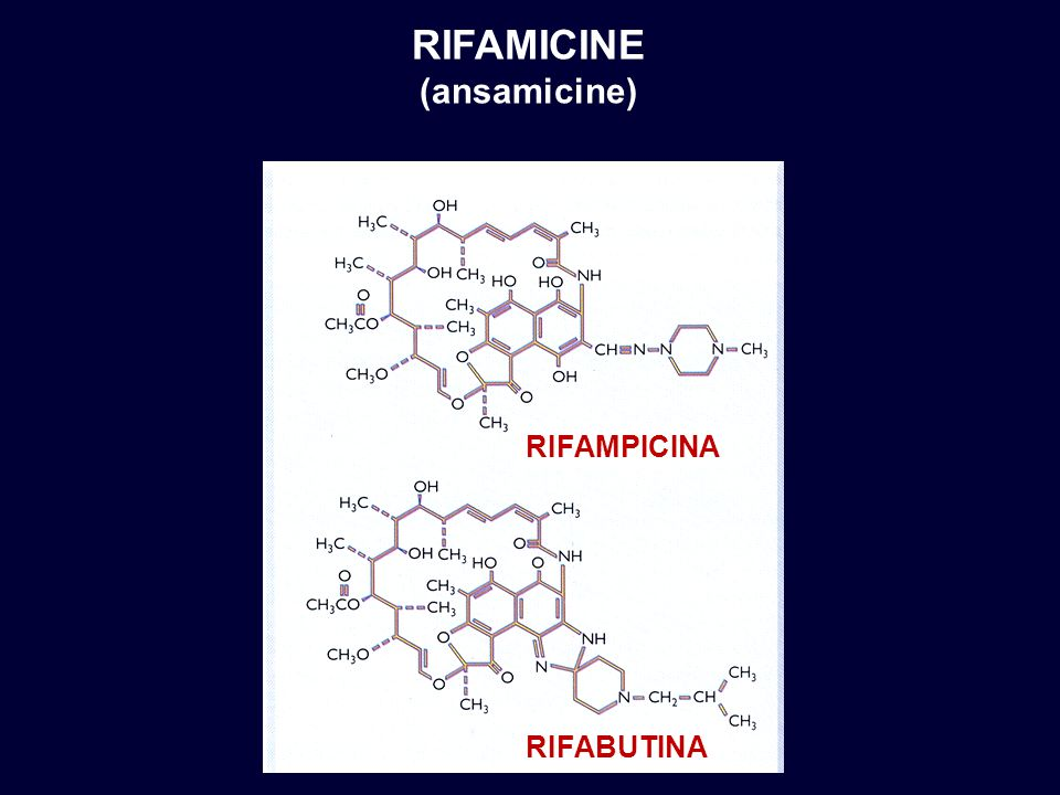 RIFAMICINE (ansamicine) rifampicina rifabutina