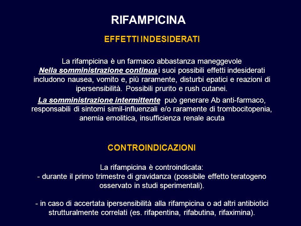La rifampicina è controindicata: