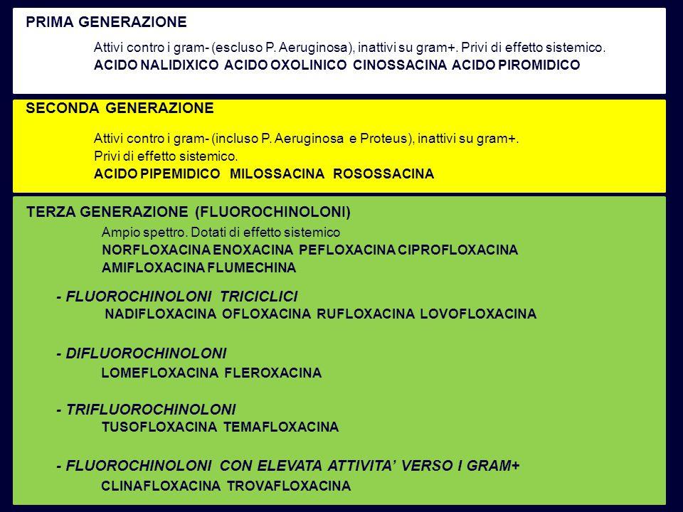 TERZA GENERAZIONE (FLUOROCHINOLONI)