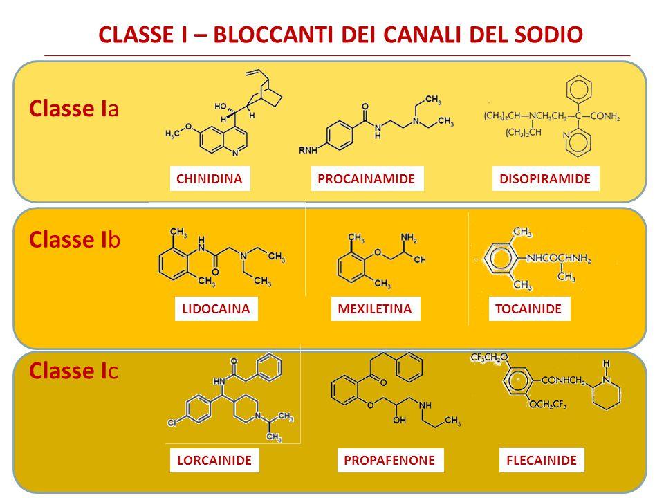 CLASSE I – BLOCCANTI DEI CANALI DEL SODIO