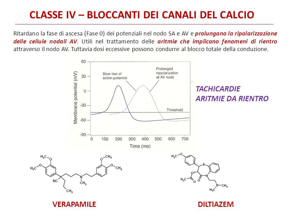 CLASSE IV – BLOCCANTI DEI CANALI DEL CALCIO