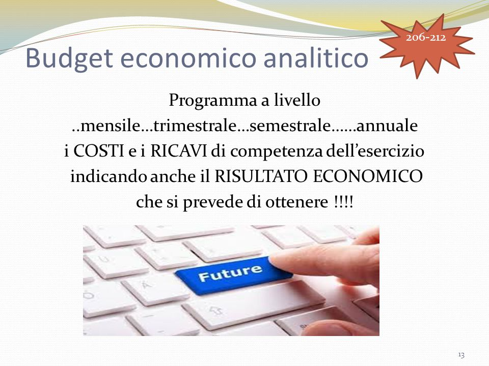 Budget economico analitico