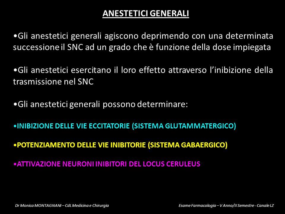Gli anestetici generali possono determinare: