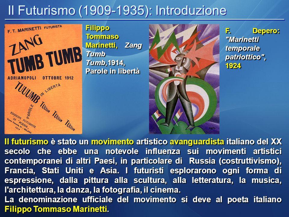 Il Futurismo (1909-1935): Introduzione