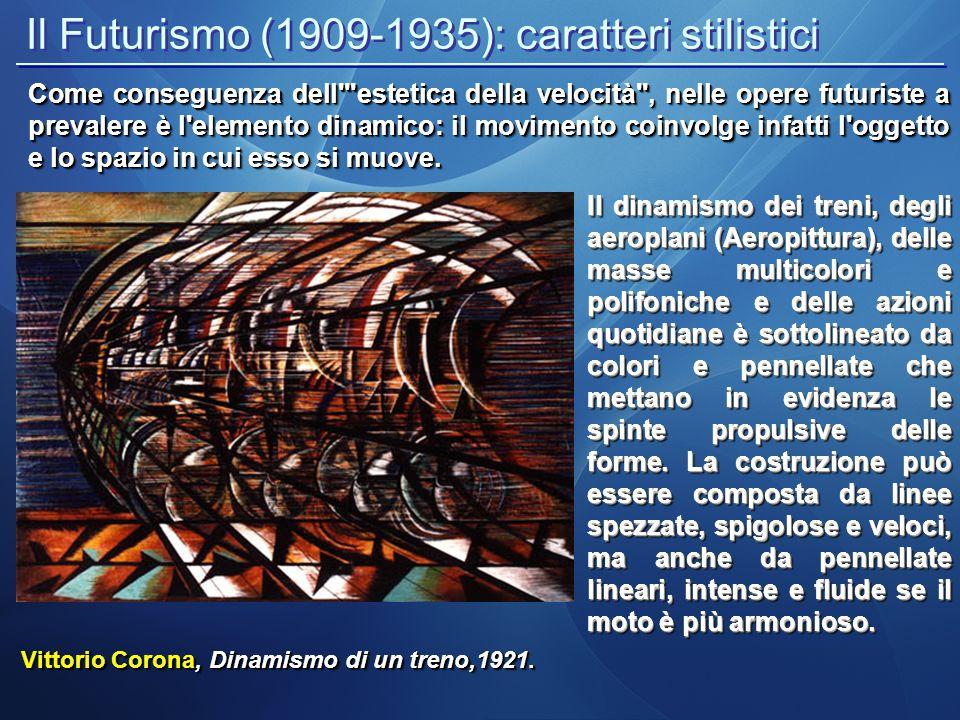 Il Futurismo (1909-1935): caratteri stilistici