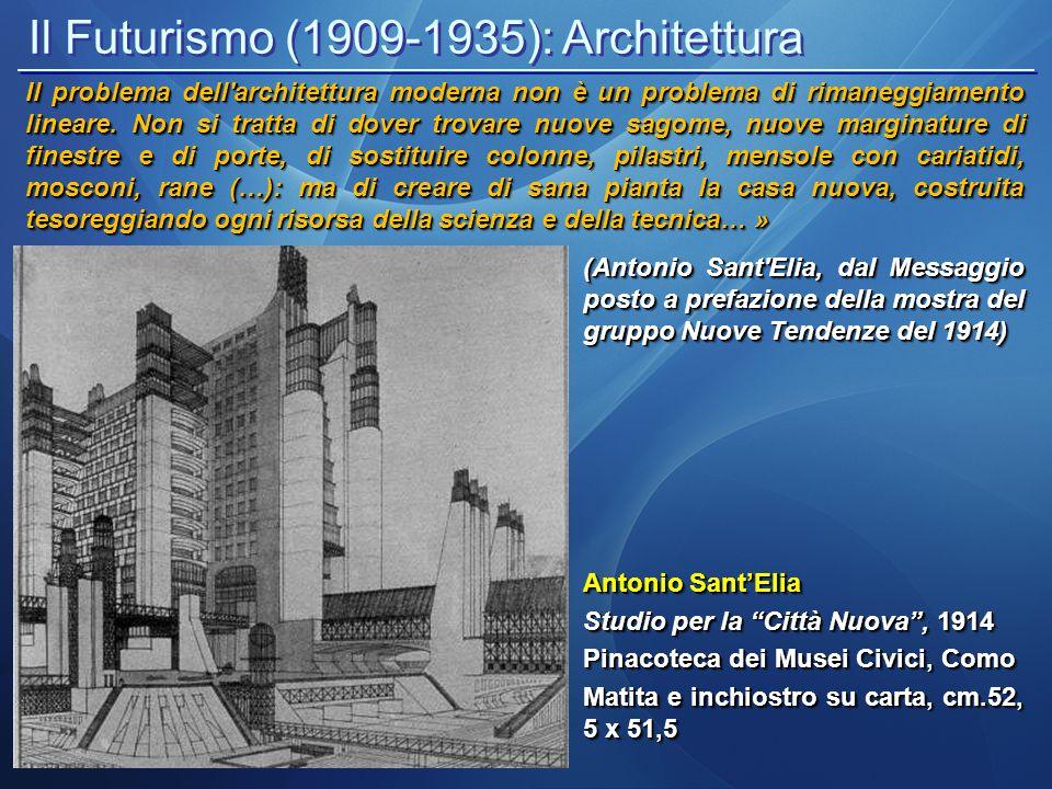 Il Futurismo (1909-1935): Architettura