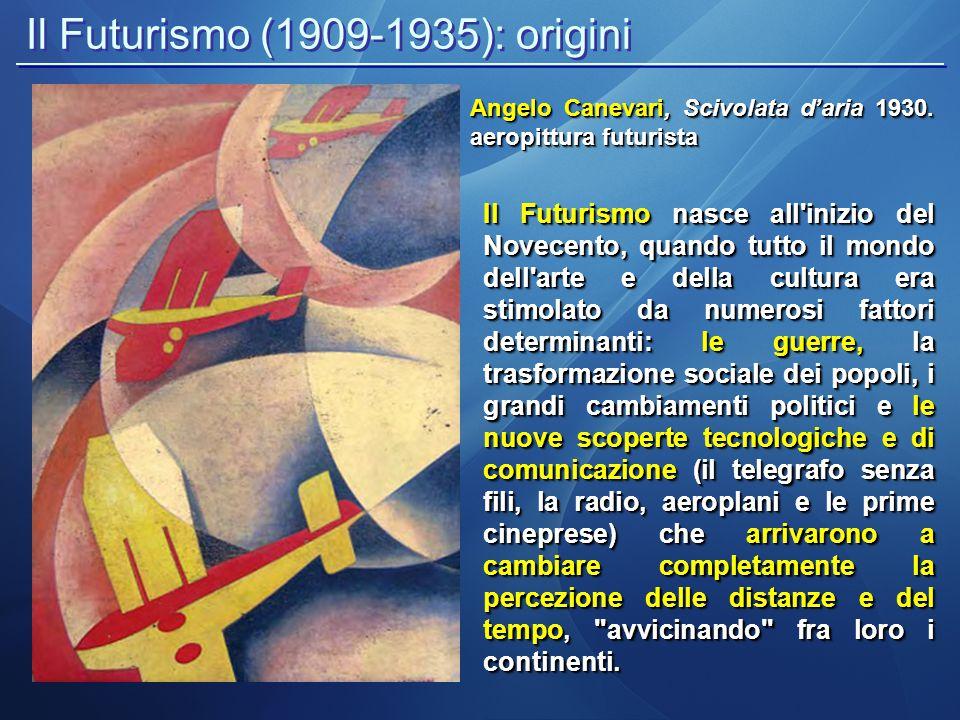 Il Futurismo (1909-1935): origini
