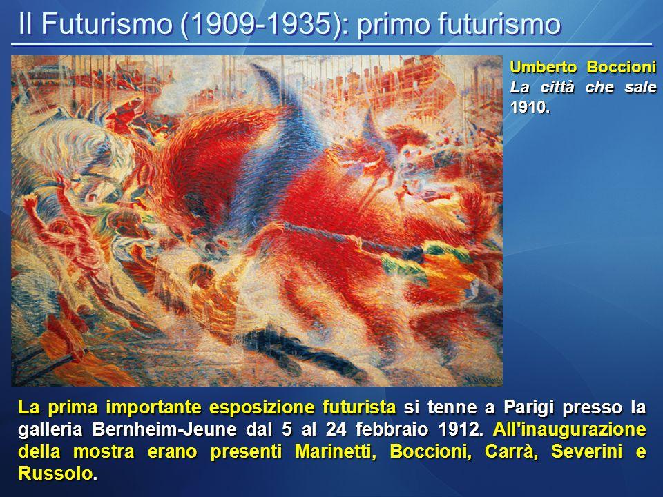 Il Futurismo (1909-1935): primo futurismo