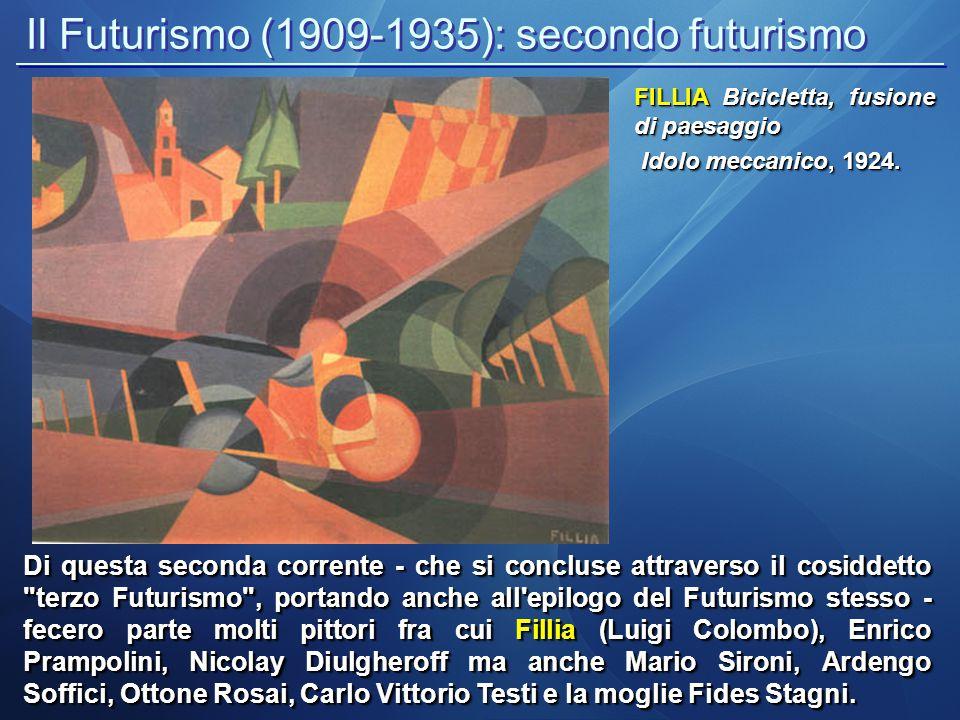 Il Futurismo (1909-1935): secondo futurismo
