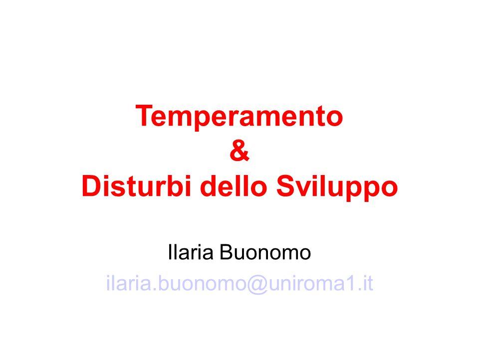 Temperamento & Disturbi dello Sviluppo