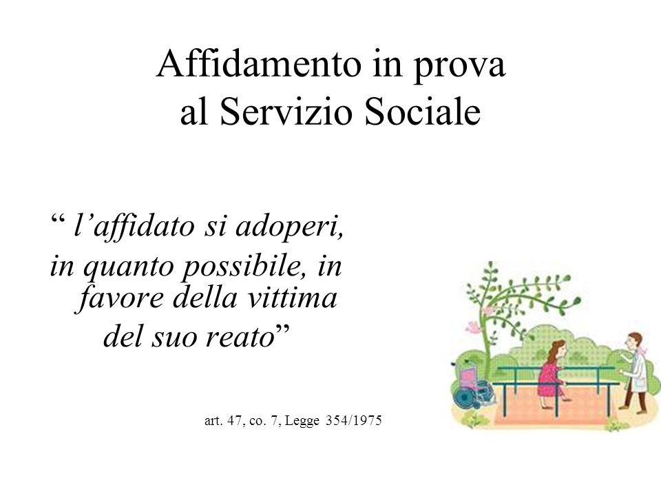 Affidamento in prova al Servizio Sociale