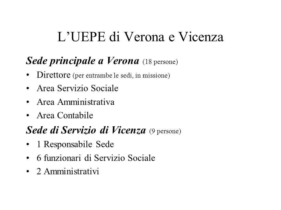 L'UEPE di Verona e Vicenza