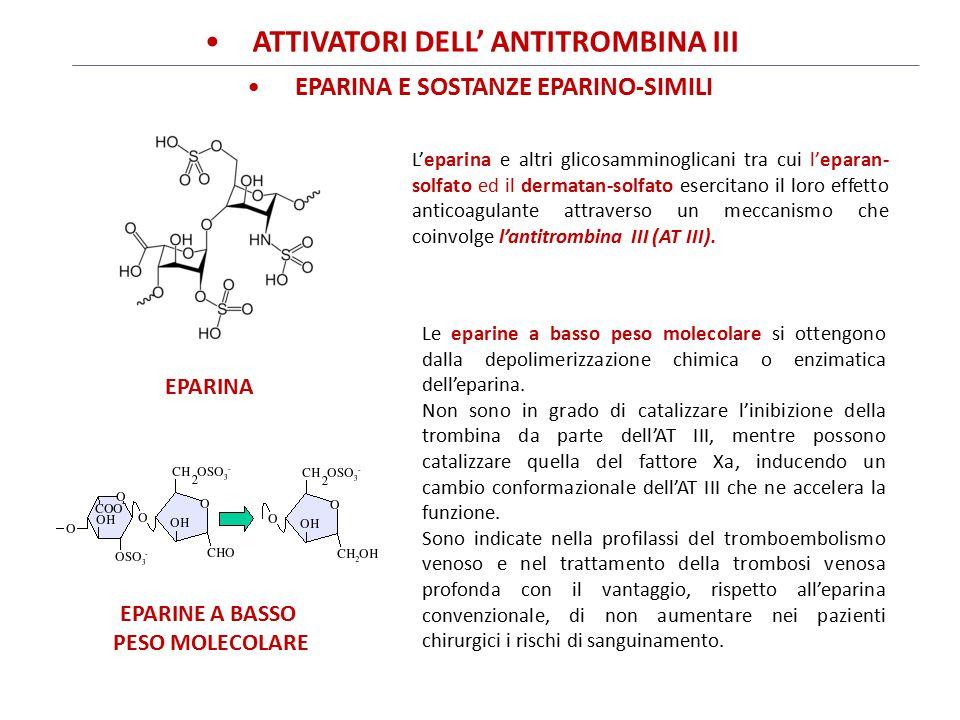ATTIVATORI DELL' ANTItrombina III EPARINA E SOSTANZE EPARINO-SIMILI