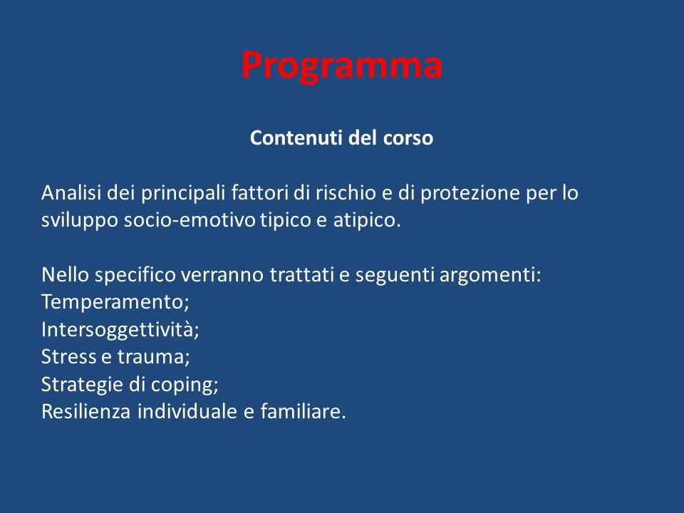 Programma Contenuti del corso