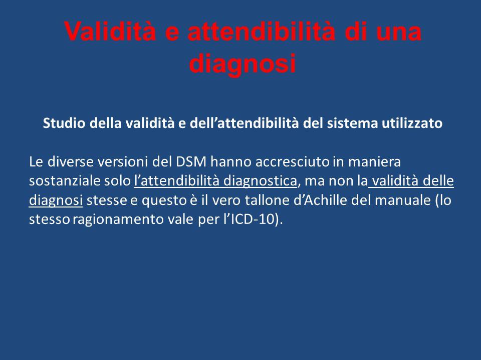 Validità e attendibilità di una diagnosi
