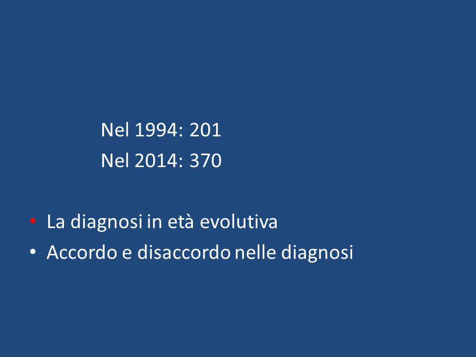 La diagnosi in età evolutiva Accordo e disaccordo nelle diagnosi