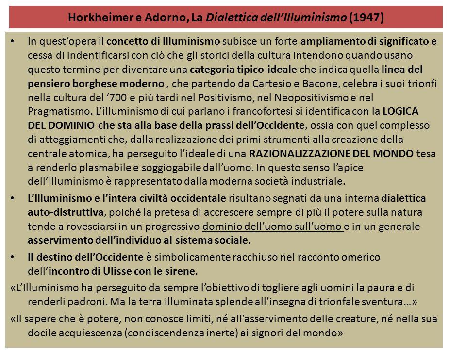 Horkheimer e Adorno, La Dialettica dell'Illuminismo (1947)