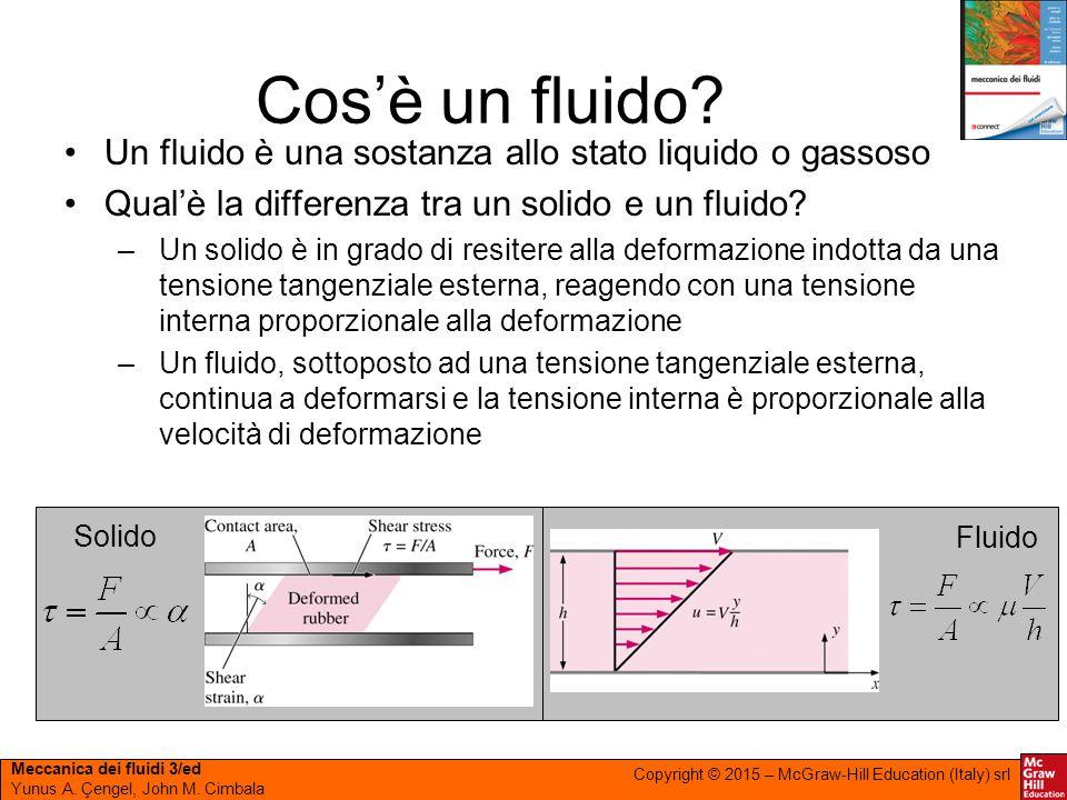 Cos'è un fluido Un fluido è una sostanza allo stato liquido o gassoso